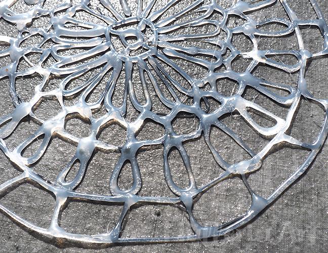 Mandala-Heißkleber-Schablonen Sonnendruck nach ©muellerinart