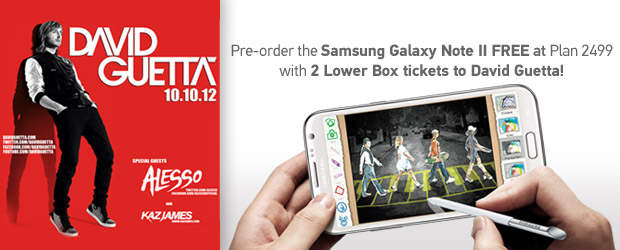 Samsung Galaxy Note II - David Guetta concert