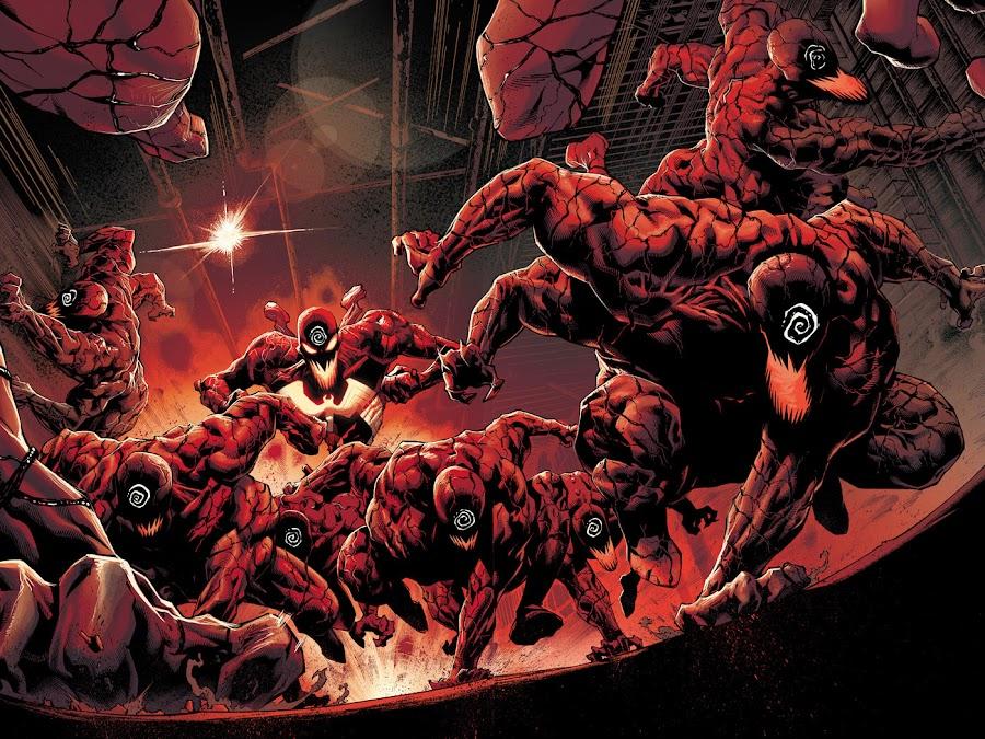 absolute carnage marvel comics cover donny cates ryan stegman ravencroft institute grendel klyntar symbiote cletus kasady carnage spider-man venom eddie brock