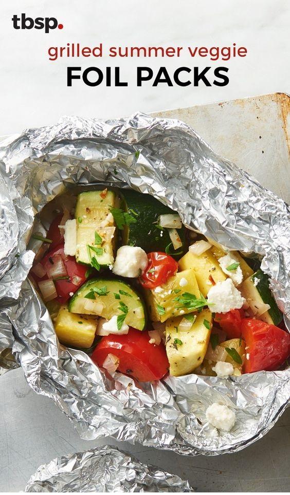 Grilled Summer Veggie Foil Packs