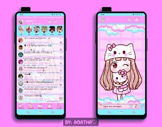 Anime Girl Theme For YOWhatsApp & KM WhatsApp By Agatha