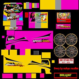 Download Livery Truck Berliant Moda