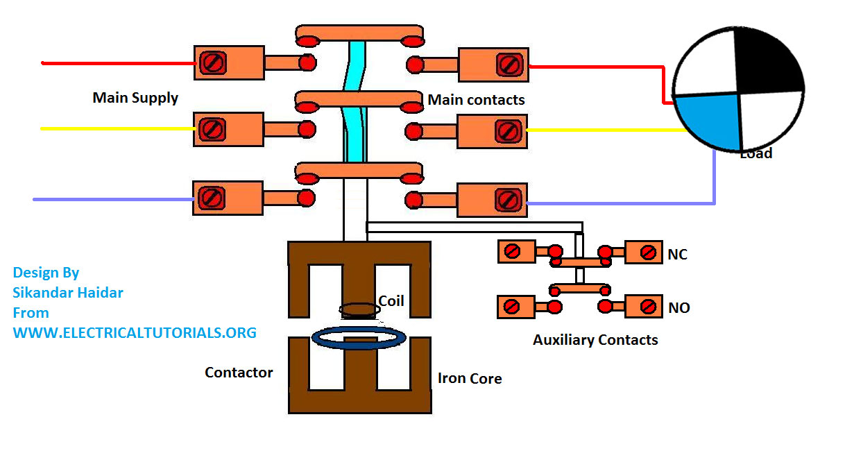 Contactor Coil Wiring Diagram For 120v