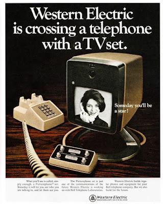 Western Electric is crossing a telephone with a TV set