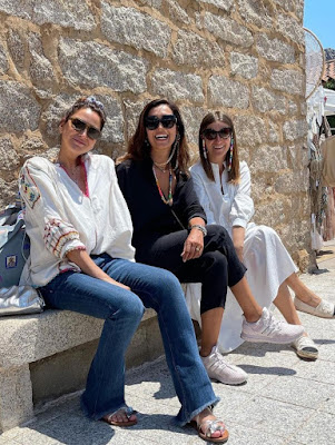 Caterina Balivo foto Sarah Arzachena nuraghe la Prisgiona 10 giugno