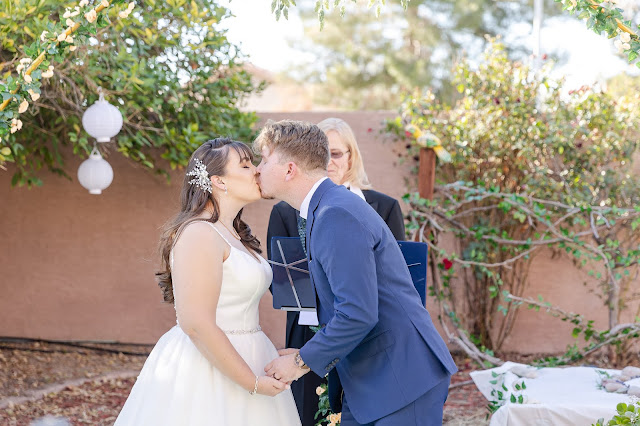 first kiss at the ceremony