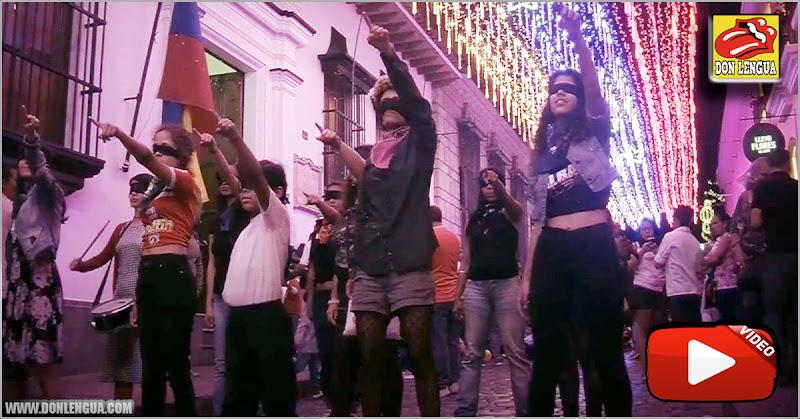 Feminazis chavistas hicieron su baile ridículo de moda en el Centro de Caracas