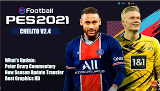 Download PES 2021 PPSSPP Chelito V2.4 Best Graphics HD & Peter Drury Commentary