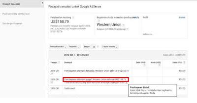 Pembayaran Google AdSense Lewat Western Union Gagal? Ini dia Penyebab dan Solusinya