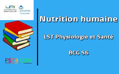 Fst errachidia Cours Nutrition humaine bcg s6 pdf