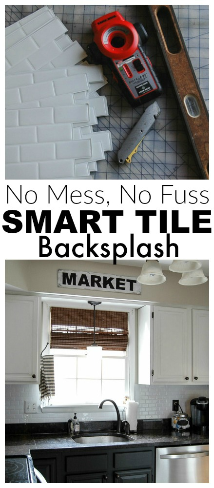 how to add a peel and stick tile backsplash