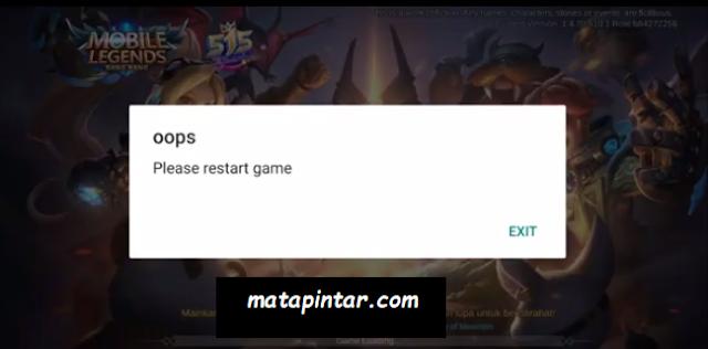 """Cara Mengatasi """"Oops Please Restart Game"""" Mobile Legends Tidak Bisa Dibuka"""