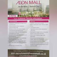 Lowongan Kerja AEON Mall Sentul City Bogor