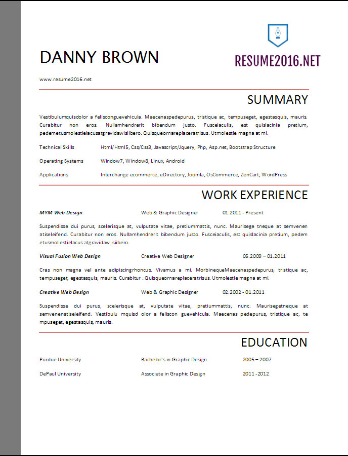 resume template design ideas free downloadable templates word blank ms pdf
