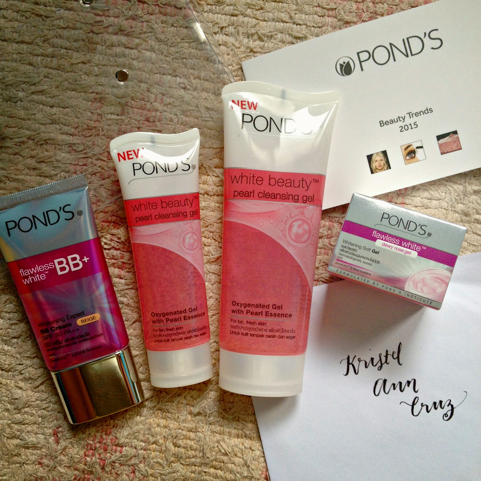 Sample Room Presents Ponds Pearl Cleansing Gel I Am Krissy Flawless Dewy Rose 50 G It Is Recommended That You Cleanse With Moisturize And If Youre Going Out Finish