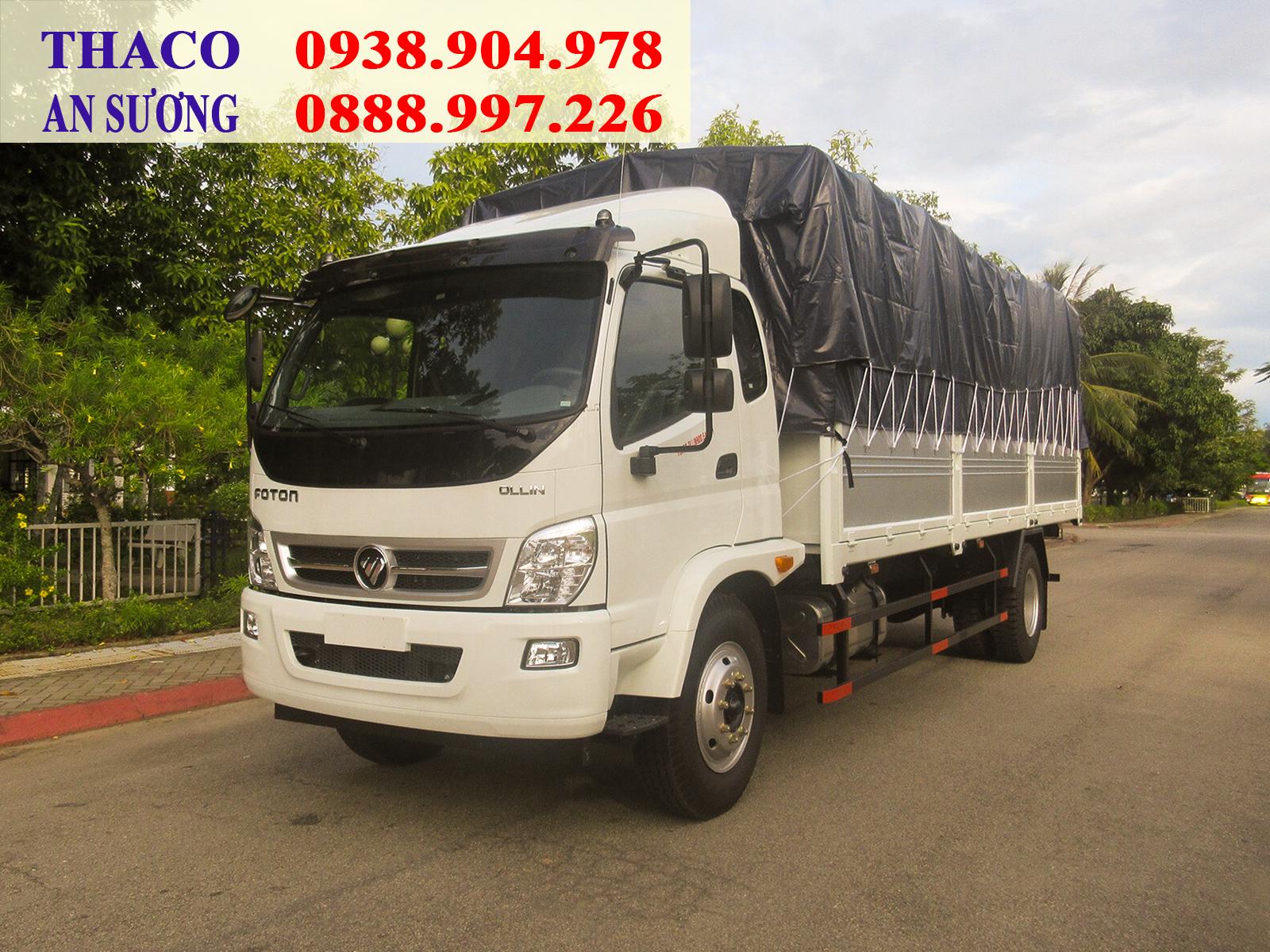 Xe tải Thaco OLLIN 900 được trang bị nhiều tiện ích, hỗ trợ tài xế lái xe thuận tiện và an toàn hơn