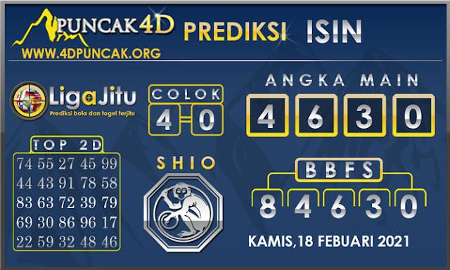 PREDIKSI TOGEL ISIN PUNCAK4D 18 FEBUARI 2021
