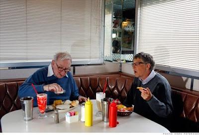 Warren buffett eating mcdonald and coca cola