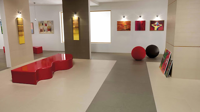 Color of tiles for flooring with color effects of MORE collection
