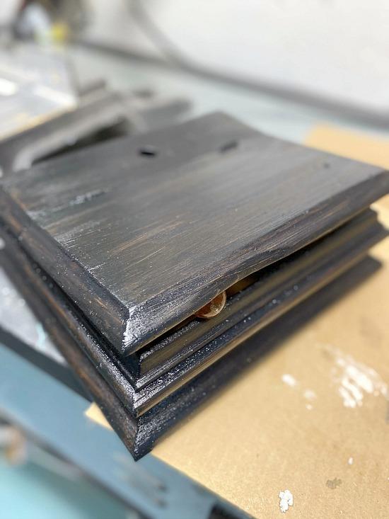 DIY Repurposed Storage Black Painted Box for Office Supplies