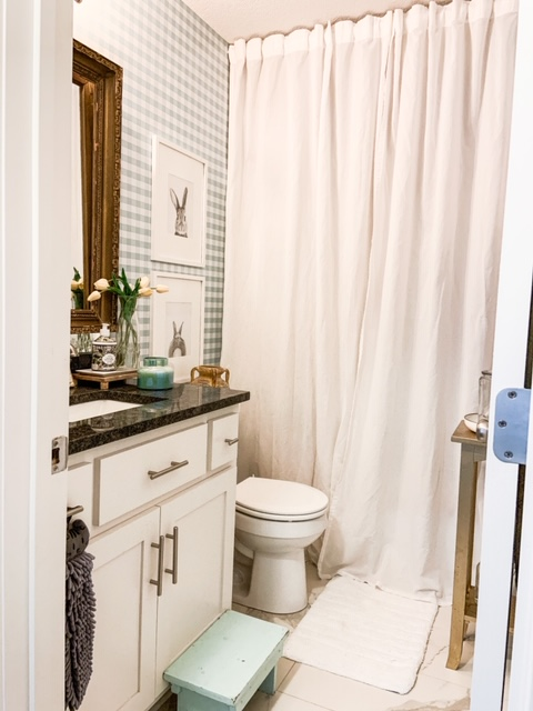 add height to ceiling with long shower curtain