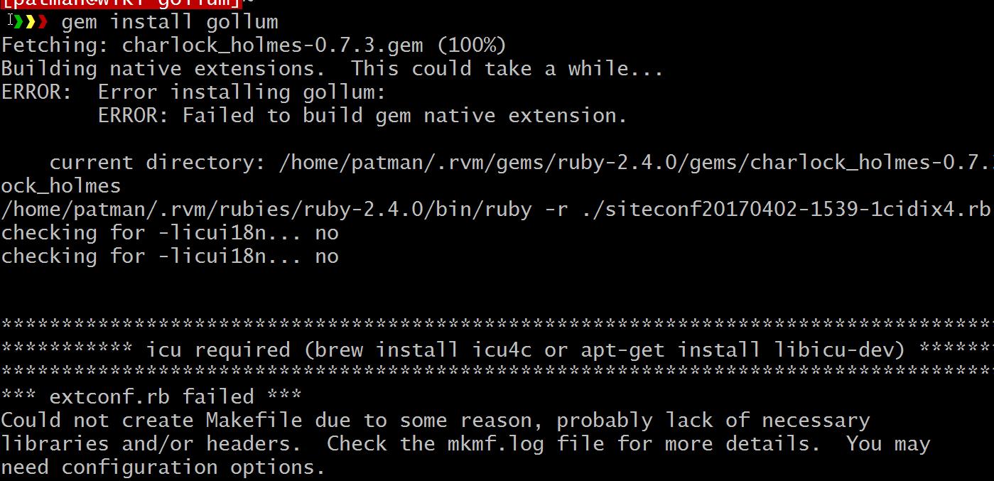 Gem Install whiteboard coder: install and configure gollum on ubuntu 16.04