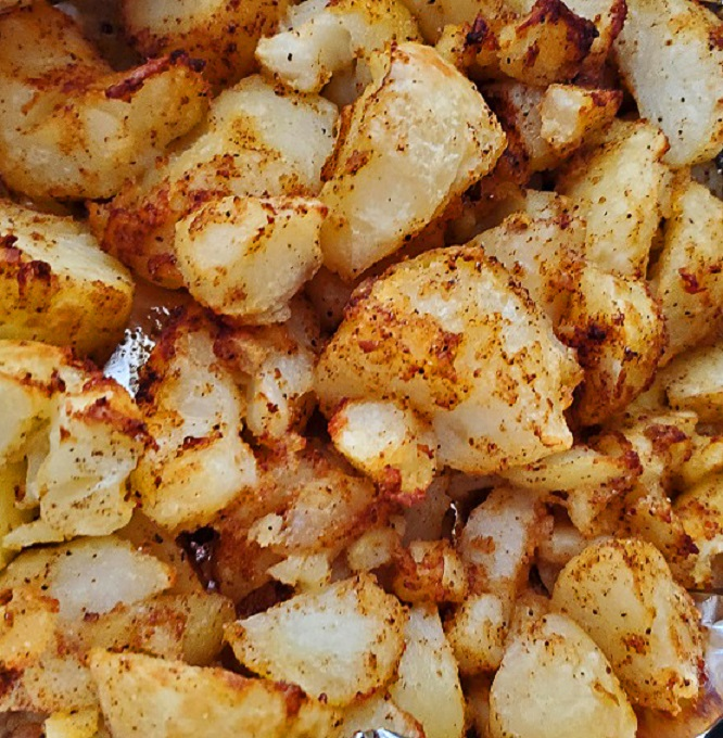 these are air fried salt and vinegar potato cubes