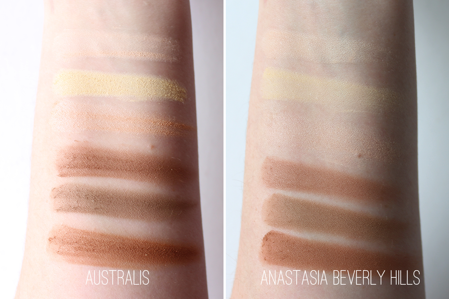 AUSTRALIS | AC On Tour Contouring + Highlighting Kit - Review + Swatches - Anastasia Beverly Hills Contour Kit Comparison - CassandraMyee