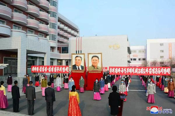 Completion ceremony of Sinuiju Textile Mill Hostel, November 24, 2020