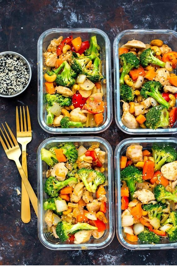 Cashew Chicken Meal Prep Bowls