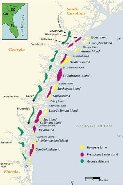 Islands Off The Coast Of Georgia Map