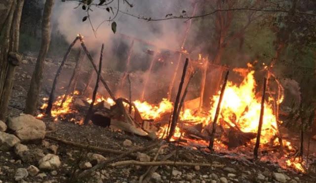 Incendian casuchas de haitianos en represalia por asesinato de agricultor