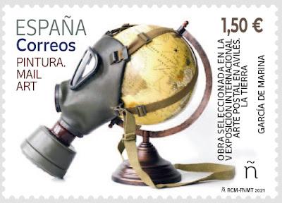 sello, arte postal, mail art, García de Marina