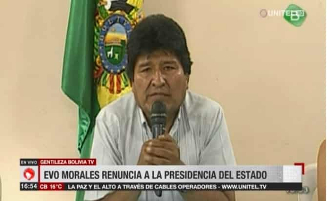 Evo Morales expresidente
