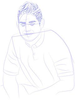 Langkah 9. Super Simpel Menggambar James Rodríguez