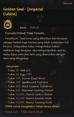 Exchange Gold Seal Imperial Cuisine