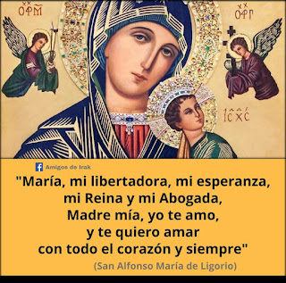 San Alfonso María de Ligorio sobre María