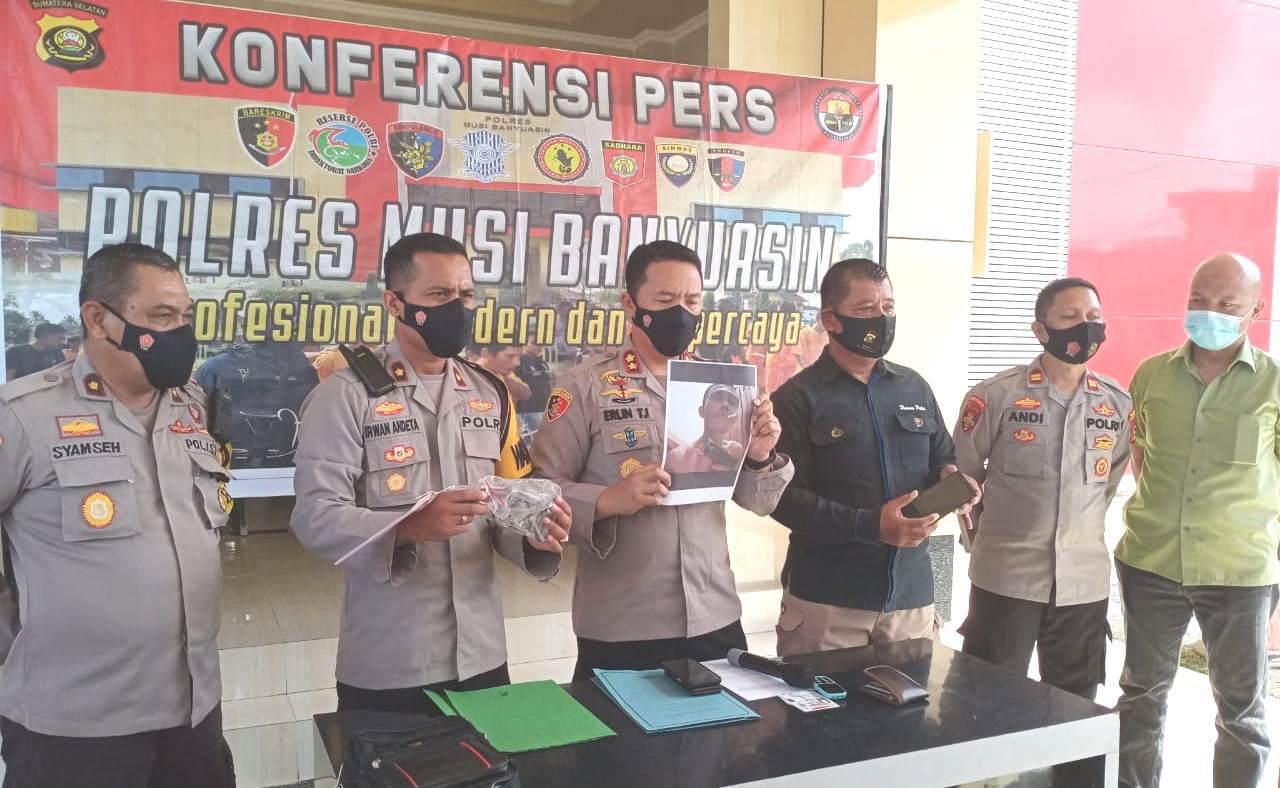 Kapolres Muba AKBP Erlin Tangjaya SIK dalam keterangan tertulis, di Halaman Mapolres, Kamis (12/11/2020)