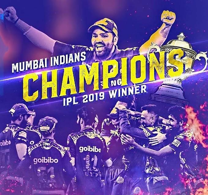 Mumbai crowned IPL 2019 Champions, Rohit becomes the 1st player to achieve this milestone