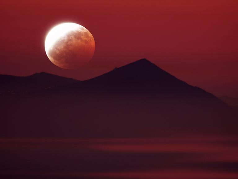 "Partial Lunar Eclipse During a ""Supermoon"""