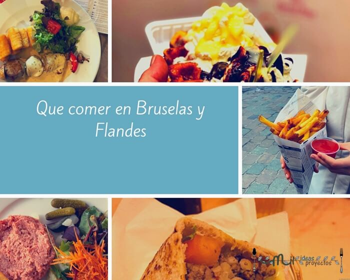 collage de comida de Bruselas