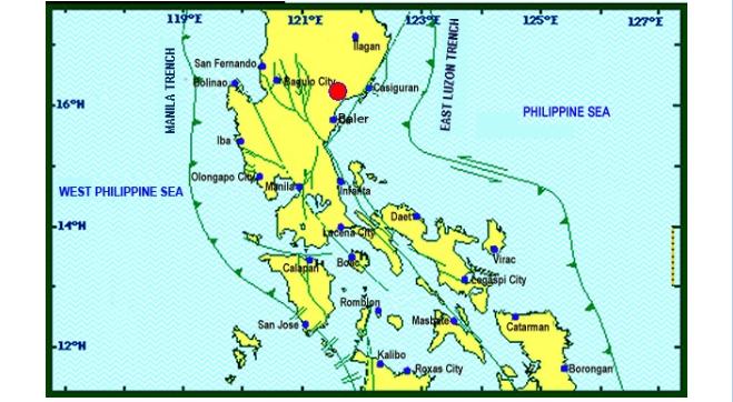 Magnitude 4.8 earthquake shakes Northern Luzon on November 13, 2019