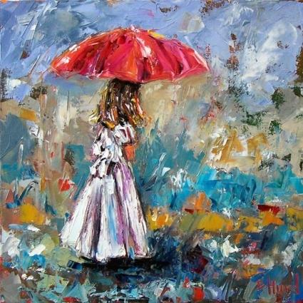 Gadis Kecil di Tengah Hujan