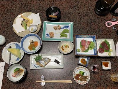 弘法湯の夕食
