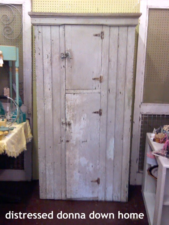 primitive cabinet, antique mall booth