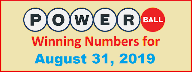 PowerBall Winning Numbers for Saturday, August 31, 2019