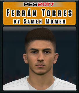 This face can be used for Pro Evolution Soccer  Update, PES 2017 Faces Ferran Torres by Sameh Momen