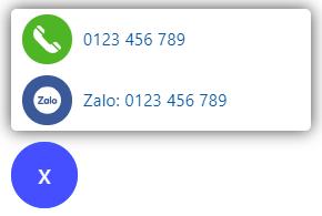 Tiện ích Zalo gọi điện cho blogspot
