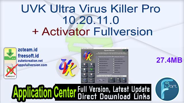 UVK Ultra Virus Killer Pro 10.20.11.0 + Activator Fullversion