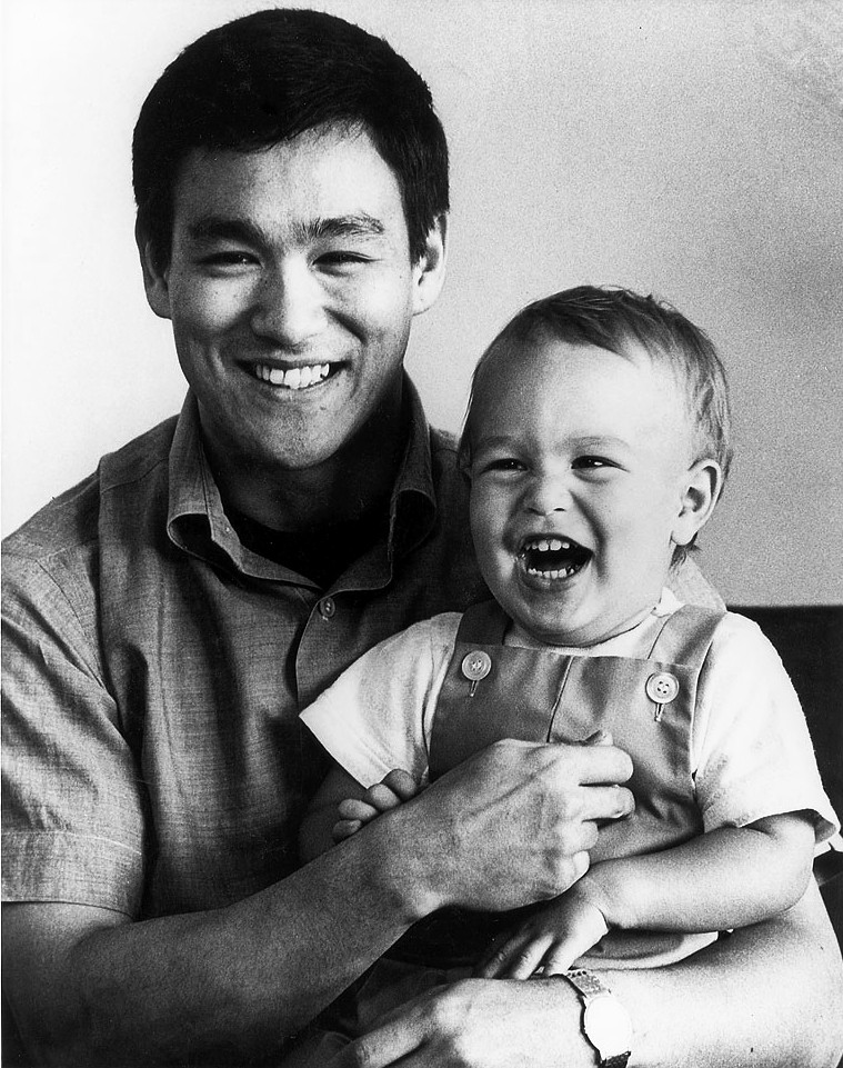 Brandon and his father Bruce Lee c. 1966
